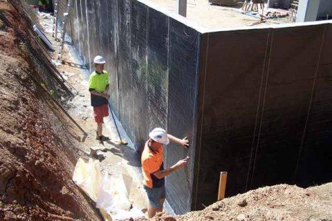 Basement construction Hale